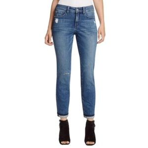 NYDJ Sylvia relaxed boyfriend distressed jeans